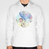 hot air balloon Hoodies featuring Hot air balloon party by Dreamy Me
