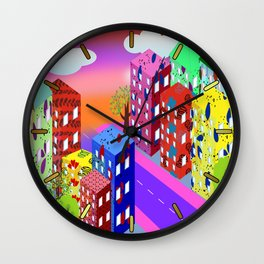 Abstract Urban By Day Wall Clock