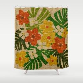 Limahuli Garden Hawaiian Floral Design Shower Curtain