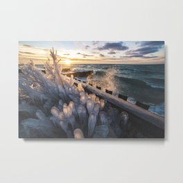 Frozen Sunset | Sleeping Bear Dunes National Lakeshore, Michigan | John Hill Metal Print