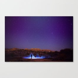 Exploring the night Canvas Print