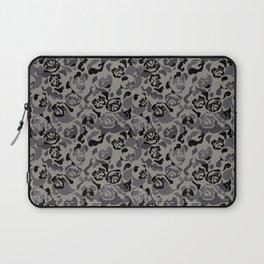 Pug Black Camouflage Laptop Sleeve