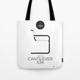 Mart Stam' S34 Cantilever Chair (minimalistic version) Tote Bag