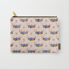 Happiness blooms from within- delicate pastel pattern Carry-All Pouch