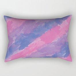 Bi Watercolor Pride Rectangular Pillow