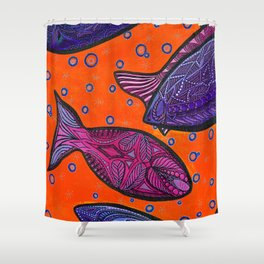 FISH3 Shower Curtain