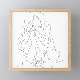 Matisse Line Art #7 Framed Mini Art Print