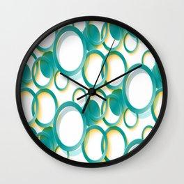 3D Retro Bubbles Wall Clock