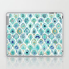 PEACOCK MERMAID Nautical Scales and Feathers Laptop & iPad Skin