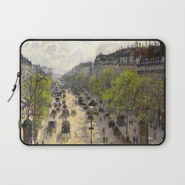 "Camille Pissarro ""Boulevard Montmartre, Spring"" Laptop Sleeve"