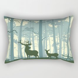 The Deers Rectangular Pillow