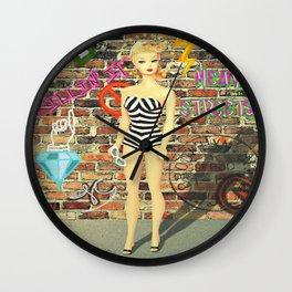 Street Cred Barbie Wall Clock