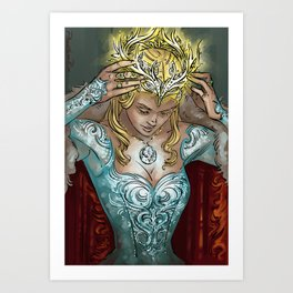 All Hail the Queen Art Print