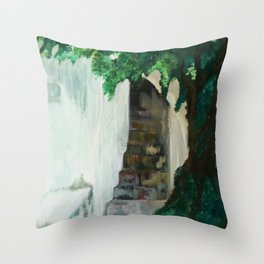 Sibiu Stairs Throw Pillow