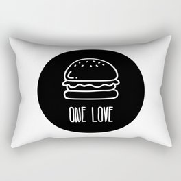 ONE LOVE, BURGER LOVE Rectangular Pillow