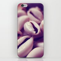shells iPhone & iPod Skins featuring Shells by Rafael&Arty