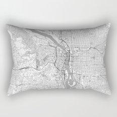 Portland City Map Line Rectangular Pillow