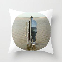 Sea Side Impression - Window Collage Throw Pillow