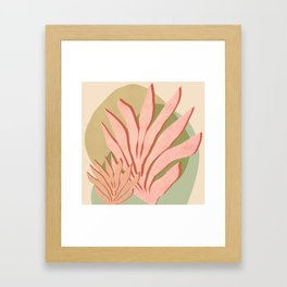 Sea grass - Shapes and Layers no.37 Framed Art Print