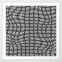 gray pattern Art Prints featuring Gray Pepples Pattern by Pia Schneider