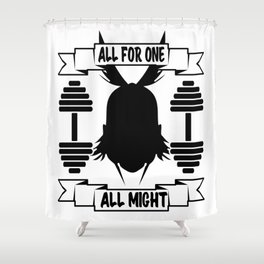 GYM - ALL MIGHT Shower Curtain