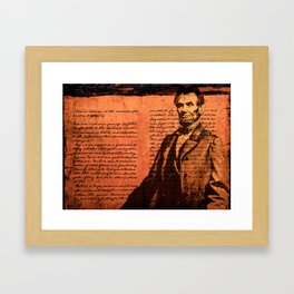 Abraham Lincoln and the Gettysburg Address Framed Art Print