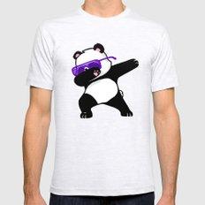 Dabbing Panda Ash Grey SMALL Mens Fitted Tee