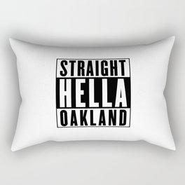 Straight Hella Oakland (Black) Rectangular Pillow