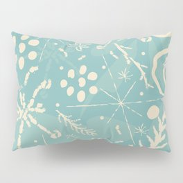 Winter Snowflakes and Doodles Pillow Sham