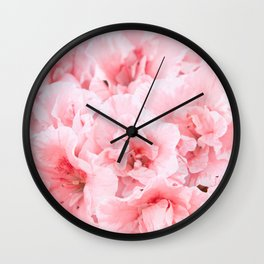 Pink Azalea Flower Dream #2 #floral #decor #art #society6 Wall Clock