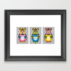 Chestnut Girl Matrioshkas Framed Art Print