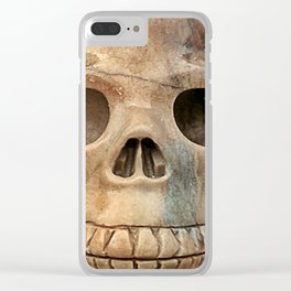 Picasso Stone Skull Clear iPhone Case