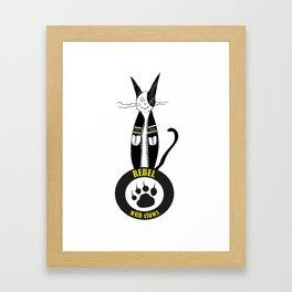 Cat & rebel Framed Art Print