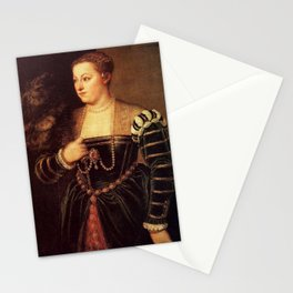 Titian - Portrait of Lavinia Stationery Cards