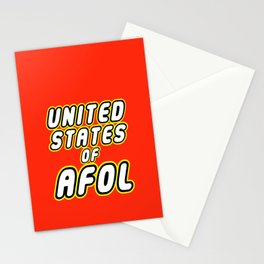 UNITED STATES OF AFOL in Brick Font Logo Design by Chillee Wilson Stationery Cards