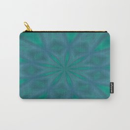 Aurora In Jade and Blue Carry-All Pouch
