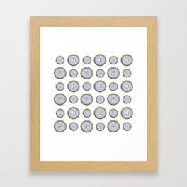 Blue Buttons  Framed Art Print