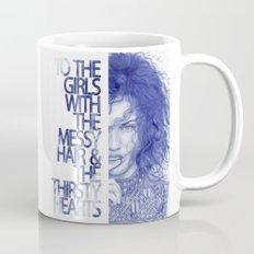 Messy hair &  thirsty hearts Coffee Mug