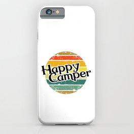 Happy Camper / Retro Vintage Camper Camping iPhone Case