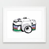 camera Framed Art Prints featuring Camera by Mariam Tronchoni