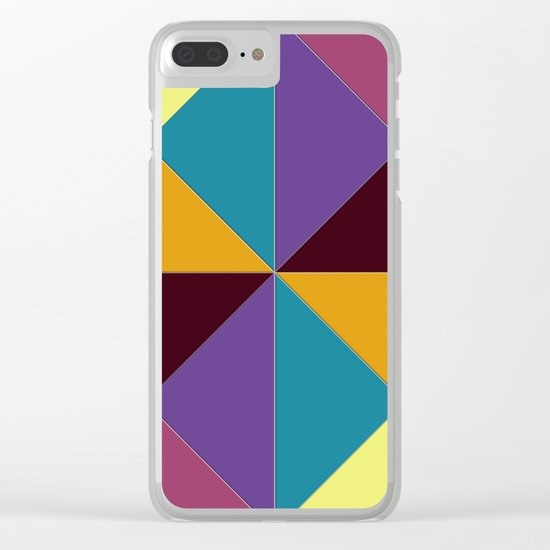 Abstract #310 Clear iPhone Case