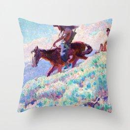 Blackfeet - William Herbert Dunton Throw Pillow