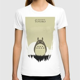 Japanese childhood anime cartoon character wall art print T-shirt