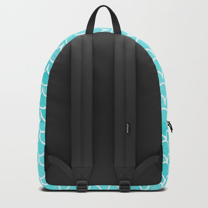 Let´s be mermaids- Aqua Mermaidscales - into the Sea- on #Society6 Backpack