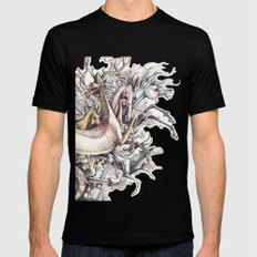 Twisted Menagerie Mens Fitted Tee MEDIUM Black