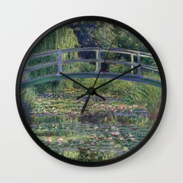 Water Lilies and the Japanese Bridge by Claude Monet Wall Clock