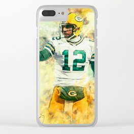 Aaron Rodgers Clear iPhone Case