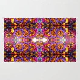 paper mache floral Rug