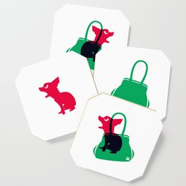 Angry animals: chihuahua - little green bag Coaster