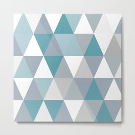 Rombi light blue Metal Print